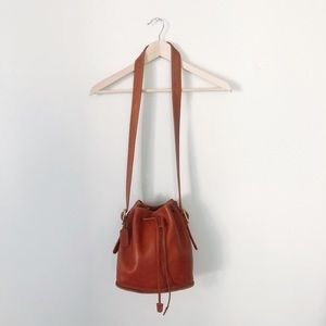 Vintage Coach Brown Leather Bucket Bag